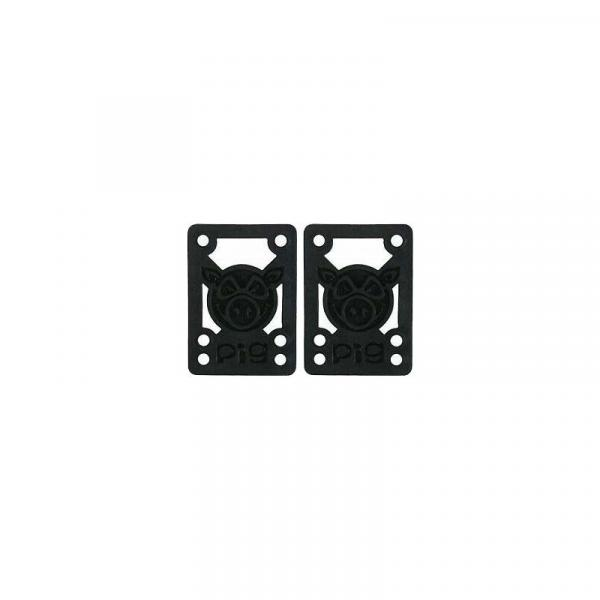 SK8 PODLOŽKY PIG WHEELS 1/4In Riser Pad - černá