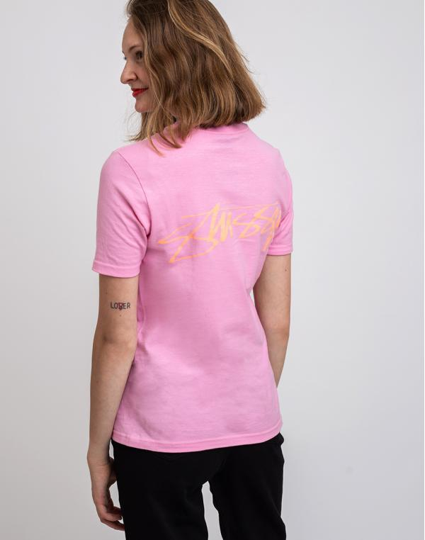 Stüssy Smooth Stock Tee Pink XS