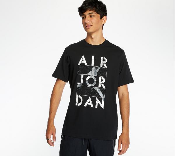 Jordan Air Stencil Tee Black