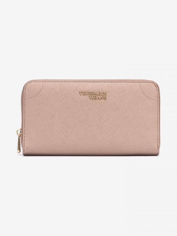 Bella Large Peněženka Trussardi Jeans Růžová