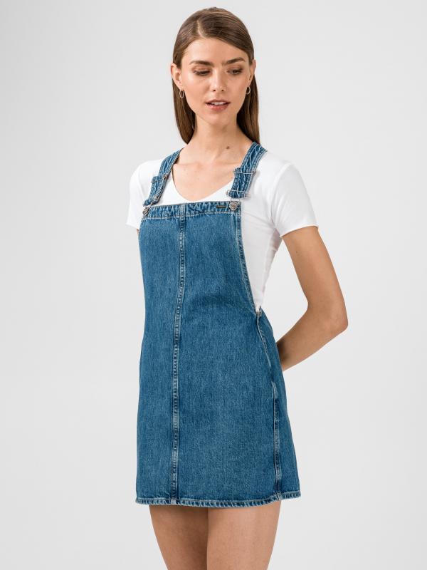 Sukně s laclem Pepe Jeans Modrá