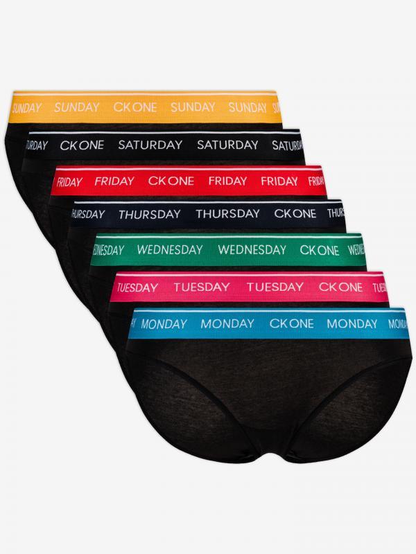 Kalhotky 7 ks Calvin Klein Černá