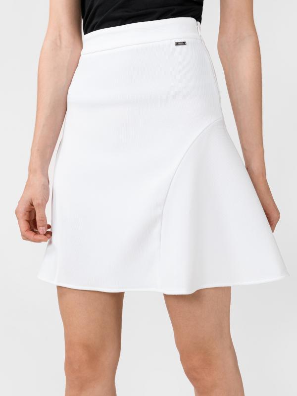 Sukně Armani Exchange Bílá