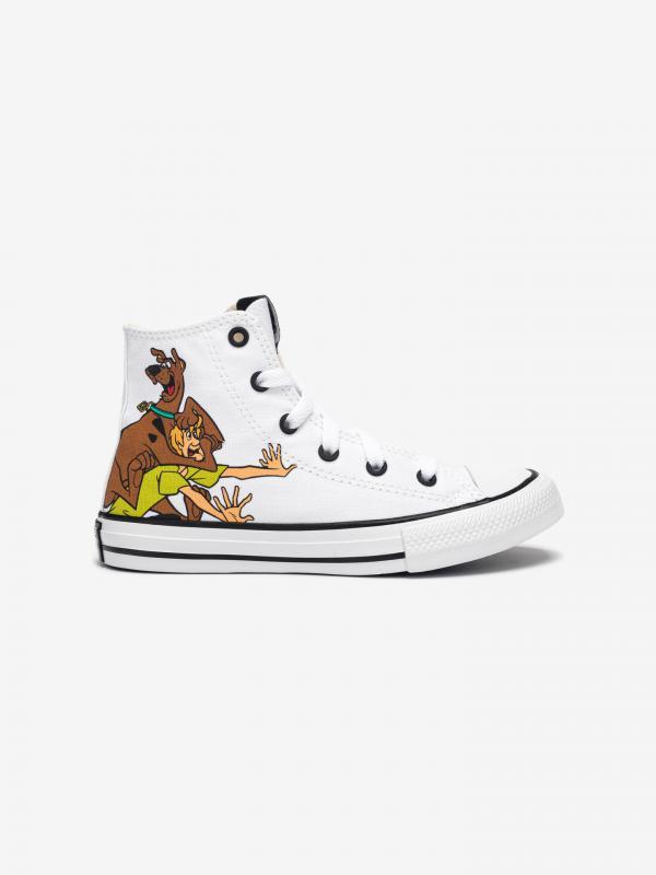 Scooby-Doo Chuck Taylor All Star Hi Tenisky dětské Converse Bílá
