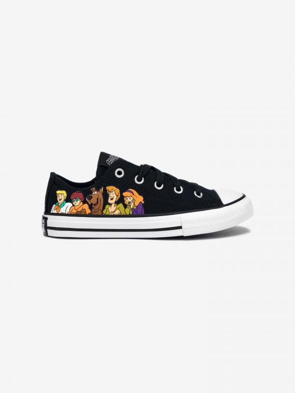 Scooby-Doo Chuck Taylor All Star Low Tenisky dětské Converse Černá