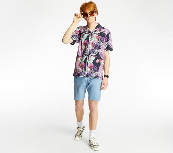 HUF Paraiso Resort Wove Shirt Navy Blazer