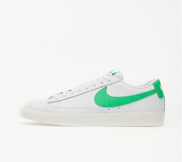 Nike Blazer Low Leather White/ Green Spark-Sail
