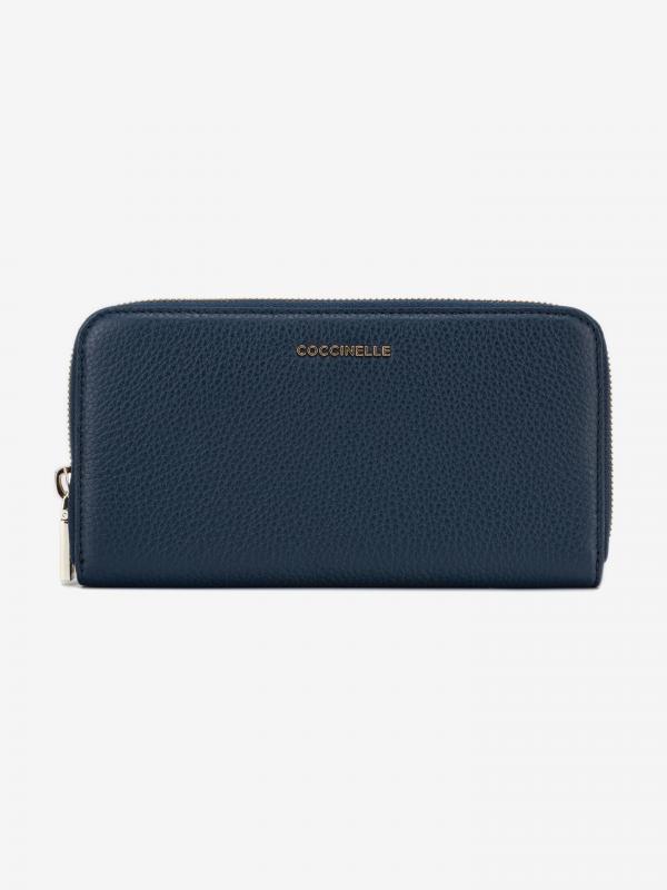 Metallic Soft Peněženka Coccinelle Modrá
