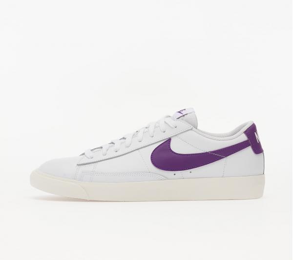 Nike Blazer Low Leather White/ Voltage Purple-Sail