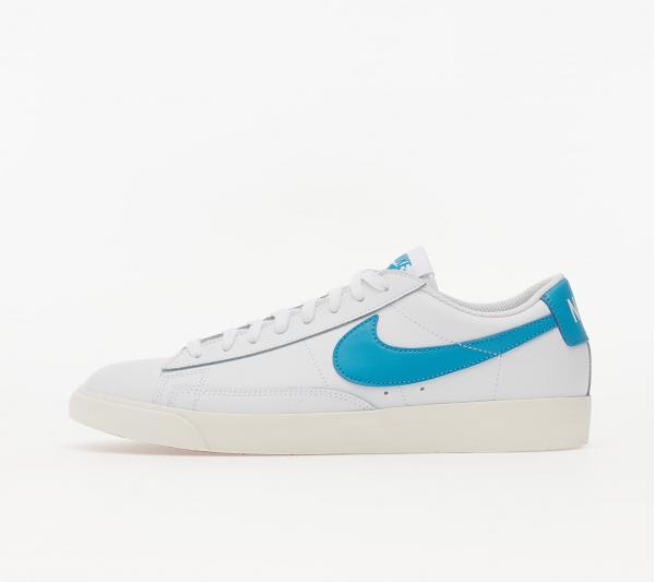 Nike Blazer Low Leather White/ Laser Blue-Sail