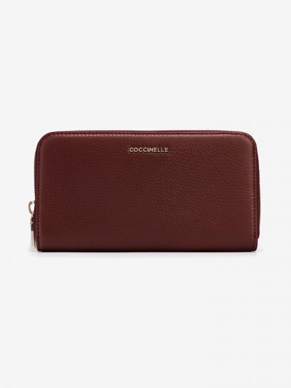 Metallic Soft Peněženka Coccinelle Červená