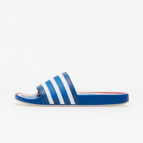 adidas Adilette Premium Blue/ Ftw White/ Hi-Res Red