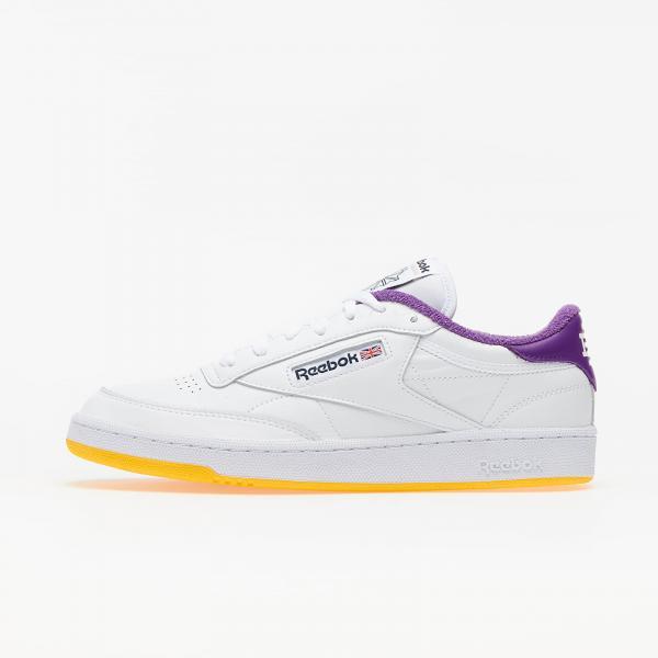 Reebok Club C 85 White/ Regal Purple/ Retro Yellow