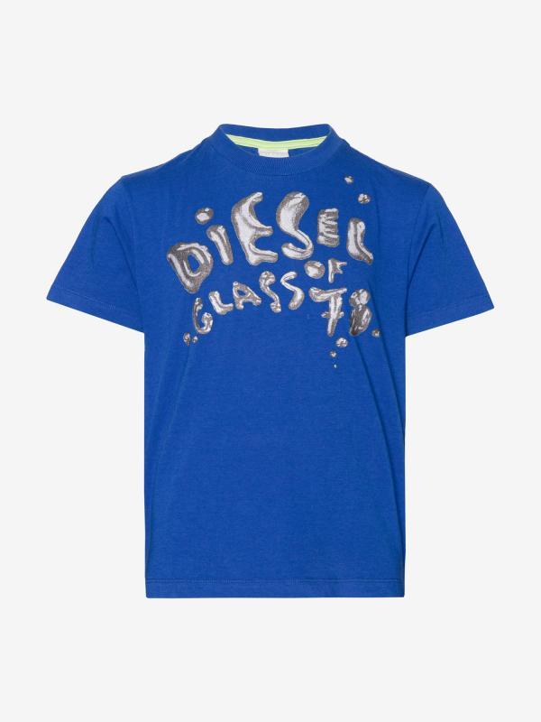 Tričko Diesel TRARRINK T-SHIRT Modrá