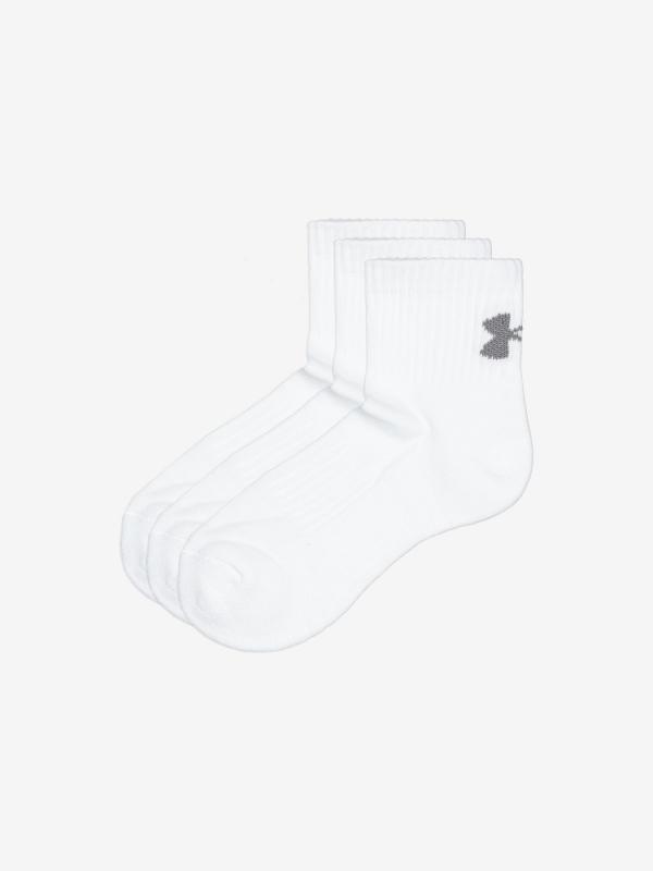 Ponožky Under Armour Training Cotton Qtr Bílá