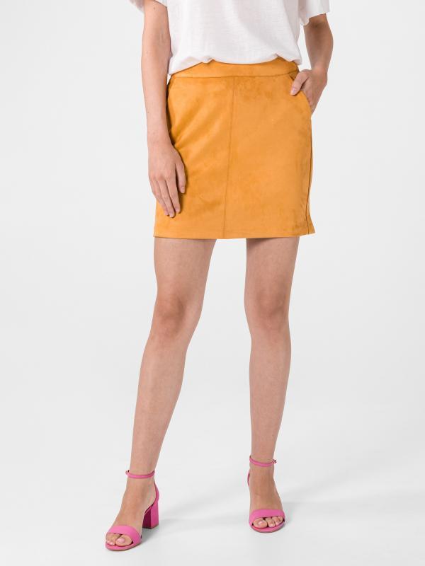 Donnadina Sukně Vero Moda Žlutá