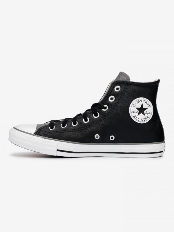 Seasonal Colour Leather Chuck Taylor All Star High Tenisky Converse Černá