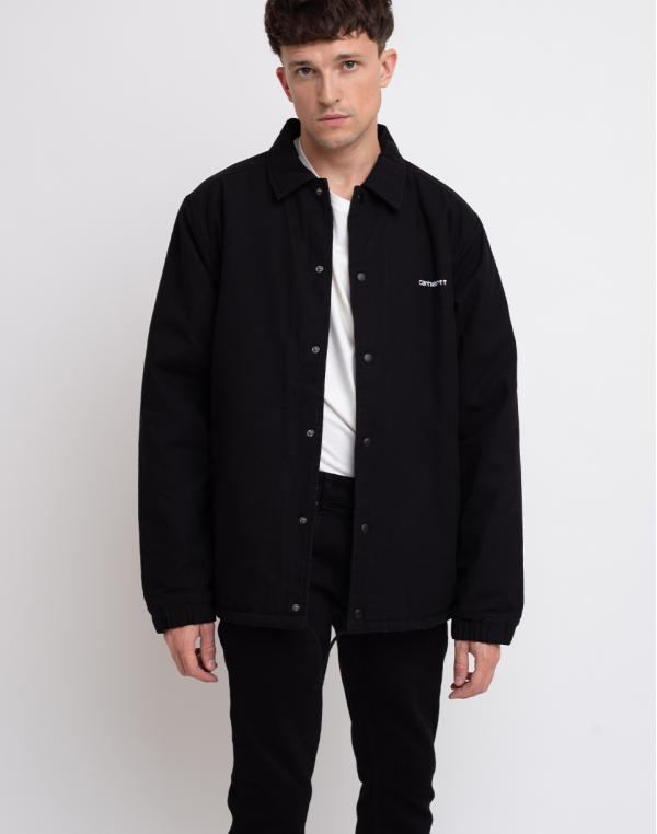 Carhartt WIP Canvas Coach Jacket Black/White Stone Washed S