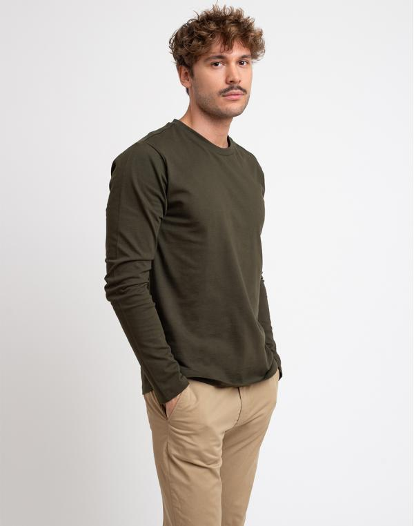 Knowledge Cotton Walnut Heavy Long Sleeve 1090 Forrest Night M