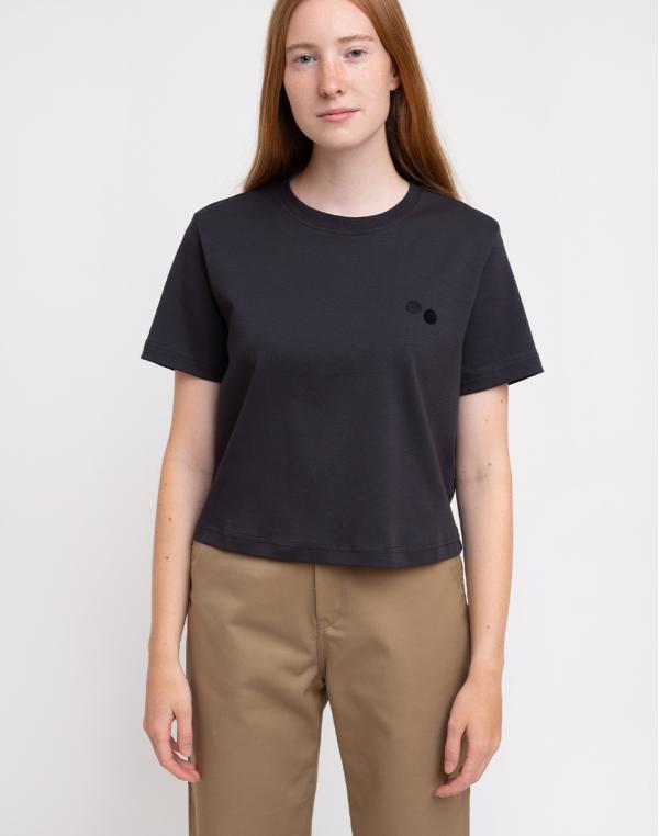 pinqponq T-Shirt Women Peat Black XS