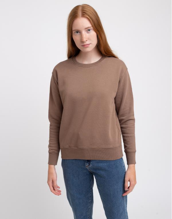 Colorful Standard Women Classic Organic Crew Warm Taupe S