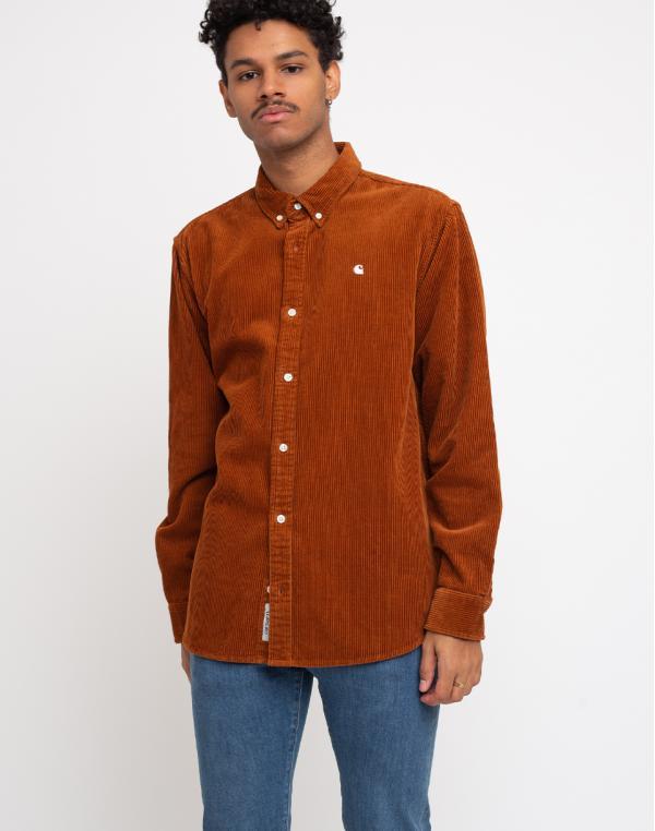 Carhartt WIP L/S Madison Cord Shirt Brandy/Wax L