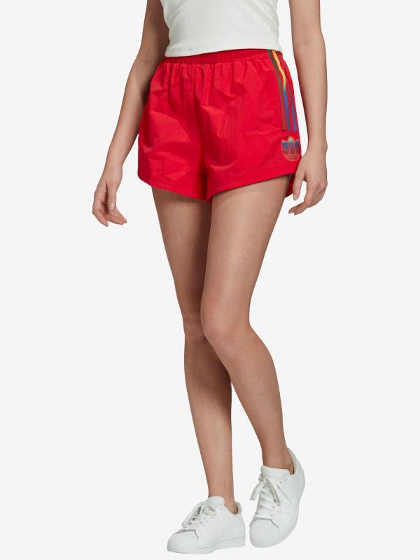 Adicolor 3D Trefoil Šortky adidas Originals Červená