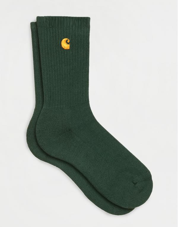 Carhartt WIP Chase Socks Bottle Green / Gold