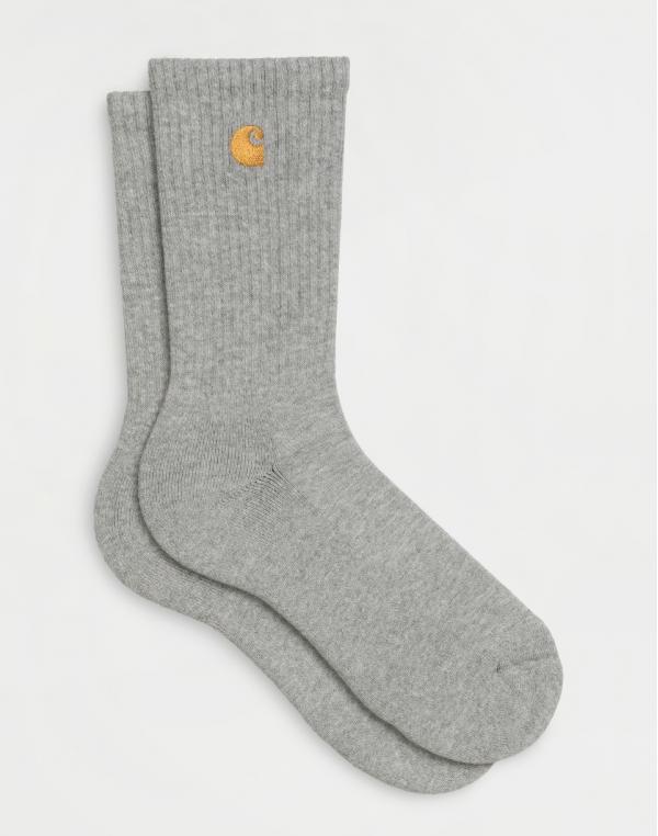 Carhartt WIP Chase Socks Grey Heather / Gold
