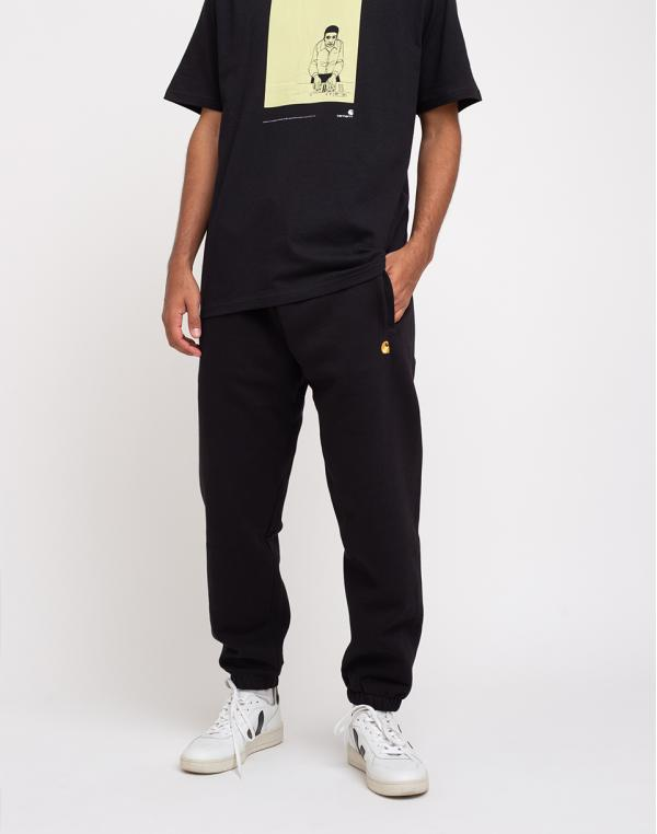 Carhartt WIP Chase Sweat Pant Black/Gold L
