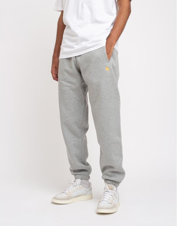 Carhartt WIP Chase Sweat Pant Grey Heather/Gold L