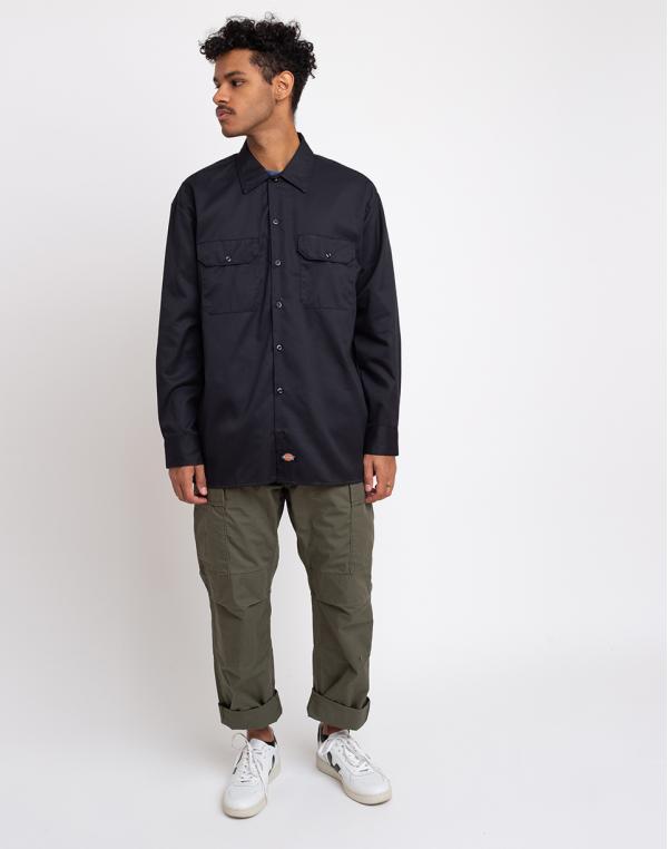 Dickies Long Sleeved Work Shirt Black M