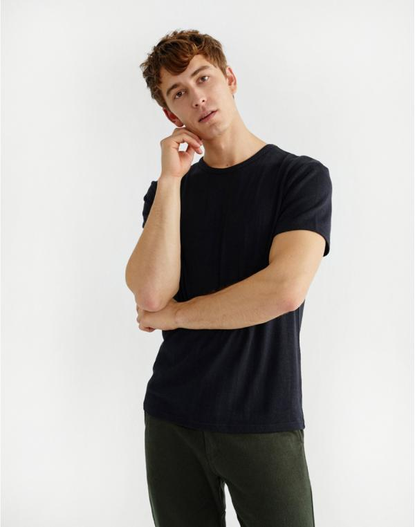 Thinking MU Basic Black Hemp T-shirt Black L