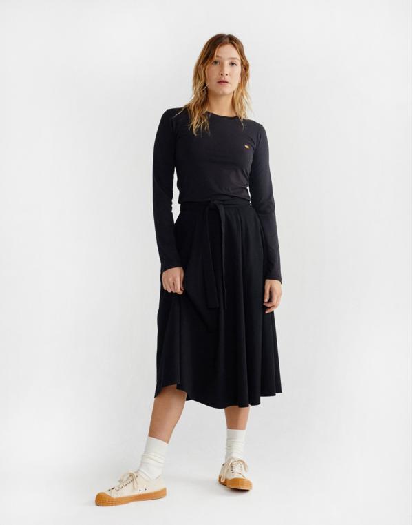 Thinking MU Black Tauret Skirt Black XS