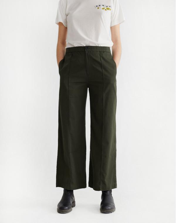 Thinking MU Green Maia Pants Dark Green XS