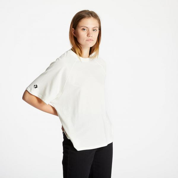 Converse Shapes Box Cropped Tee Off White