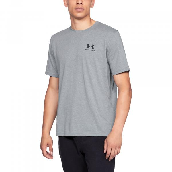 Under Armour Sportstyle Left Chest SS Gray