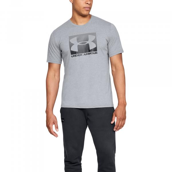 Under Armour Boxed Sportstyle SS Steel Light Heather/ Graphite/ Black