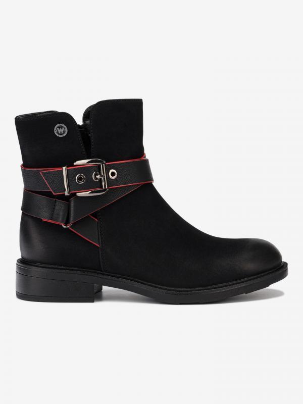 Vanys Biker Kotníková obuv Wrangler Černá