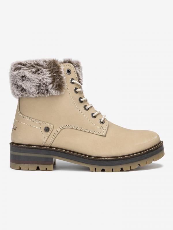 Denver Alaska Kotníková obuv Wrangler Béžová