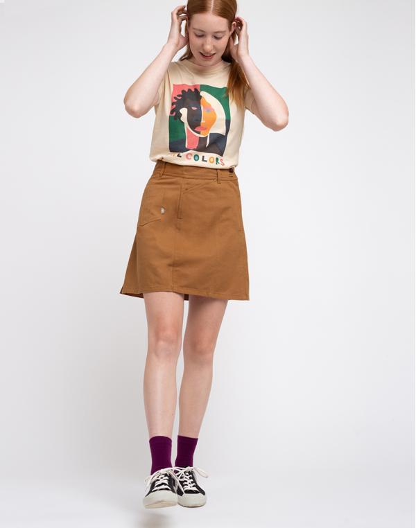 Thinking MU Caramel Rhea Skirt Caramel S