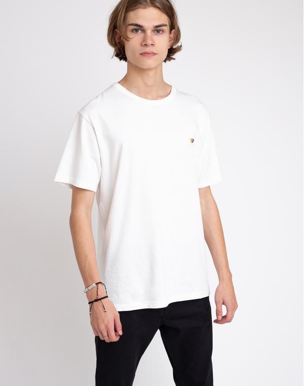 Thinking MU Brown Hearts T-shirt Snow White XL