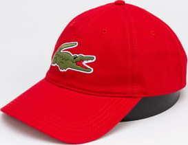 LACOSTE Large Logo Cap červená