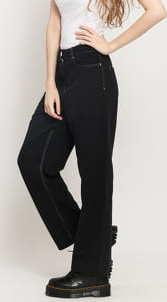 WOOD WOOD Althea Trousers černé