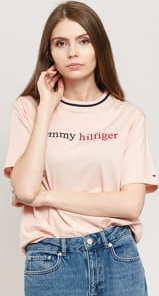Tommy Hilfiger CN Tee SS Logo světle růžové