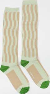 WOOD WOOD Siri Socks světle zelené / béžové