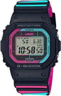 """Casio G-Shock GW B5600GZ-1ER """"Gorillaz"""" černé / růžové / tyrkysové"""