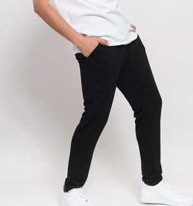 Urban Classics Modal Terry Tapered Sweatpants černé