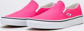 Vans Classic Slip-On (neon) knockout pink / true white