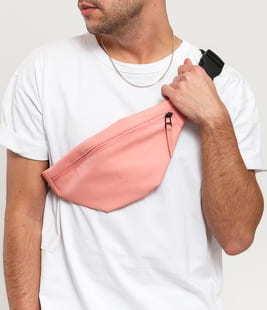 Rains Bum Bag Mini růžová